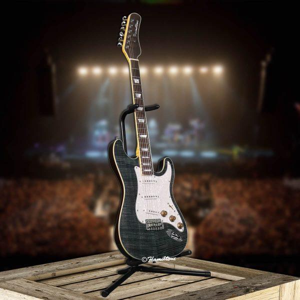 Bolt On/ST Custom Blue Electric Hamiltone Guitar