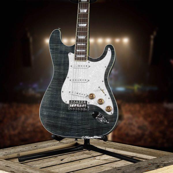 Bolt On/ST Custom Blue Electric Hamiltone Guitar Base View
