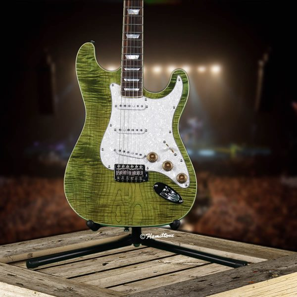 Bolt On/ST Custom Green Electric Hamiltone Guitar Base View