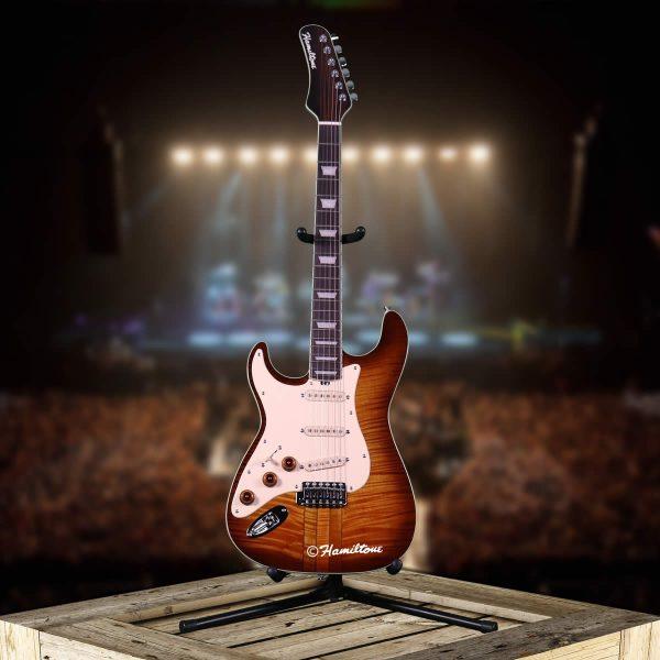Hamiltone Left Handed Electric Guitar