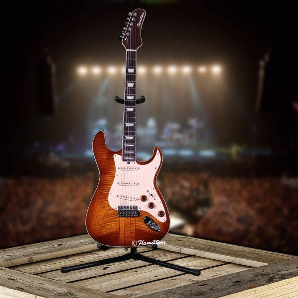 Hamiltone Tobacco Colored Electric Guitar